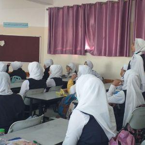 الرابطة الإسلامية تنظم لقاءً دينياً في مدرسة الشيماء شمال القطاع